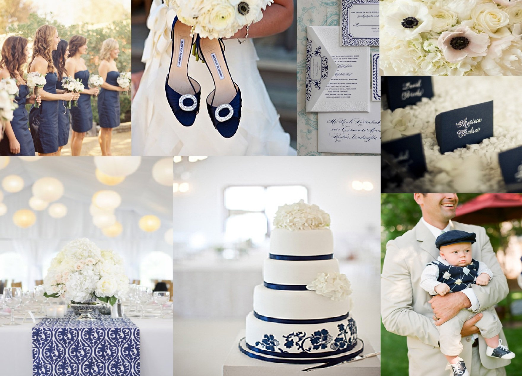 Navy and White Wedding Inspiration - Washington DC Wedding Planner ...