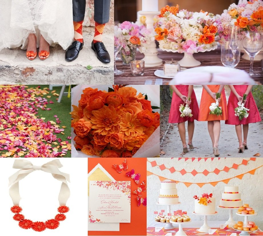 Tangerine And Pink Wedding Inspiration Washington Dc Wedding