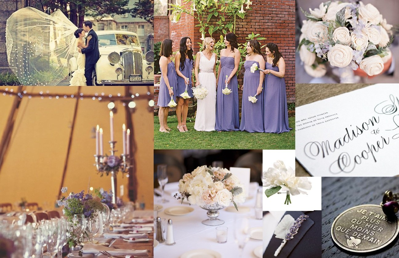 Spring Lavender, Blush and White Wedding for Tottering Hall ...