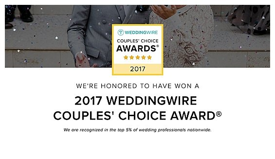 Winner Wedding Wire Award 2017