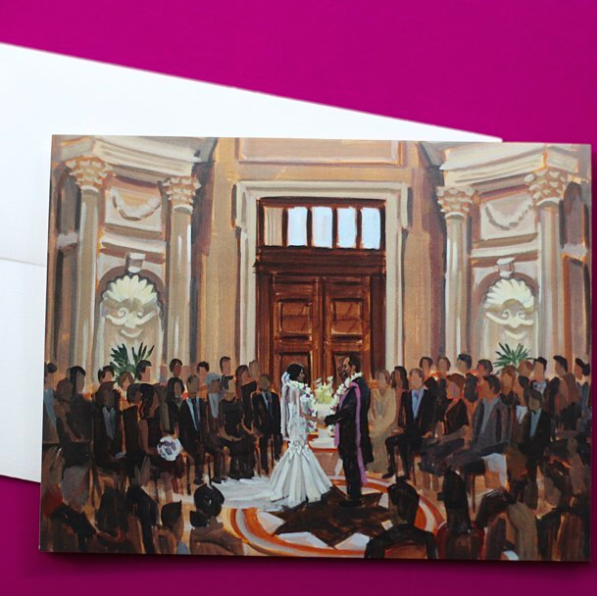 DC Wedding at Carnegie Institution for Science, Wedding Planning by Bright Occasions, Painting by Wed on Canvas
