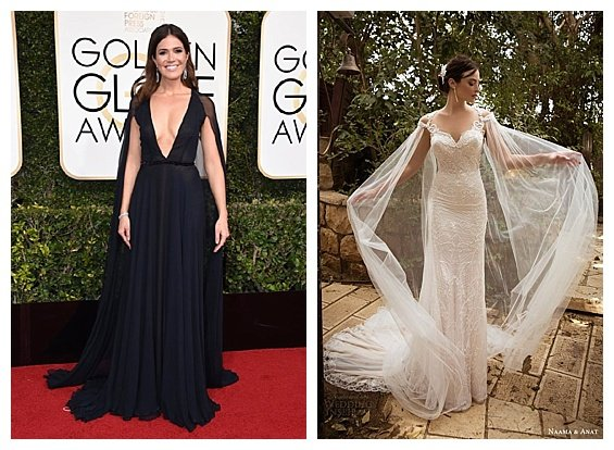 Golden Globe Fashion Inspired Wedding 2017 Trends. Mandy Moore. Wedding Dress by Naama & Anat. Inspiration by DC Wedding Planner by Bright Occasions