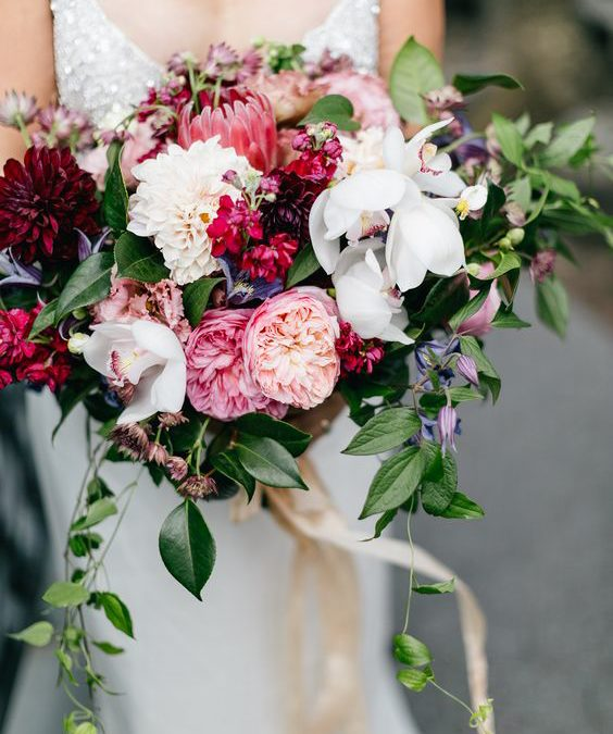Pink and Red Valentines Day Wedding Inspiration
