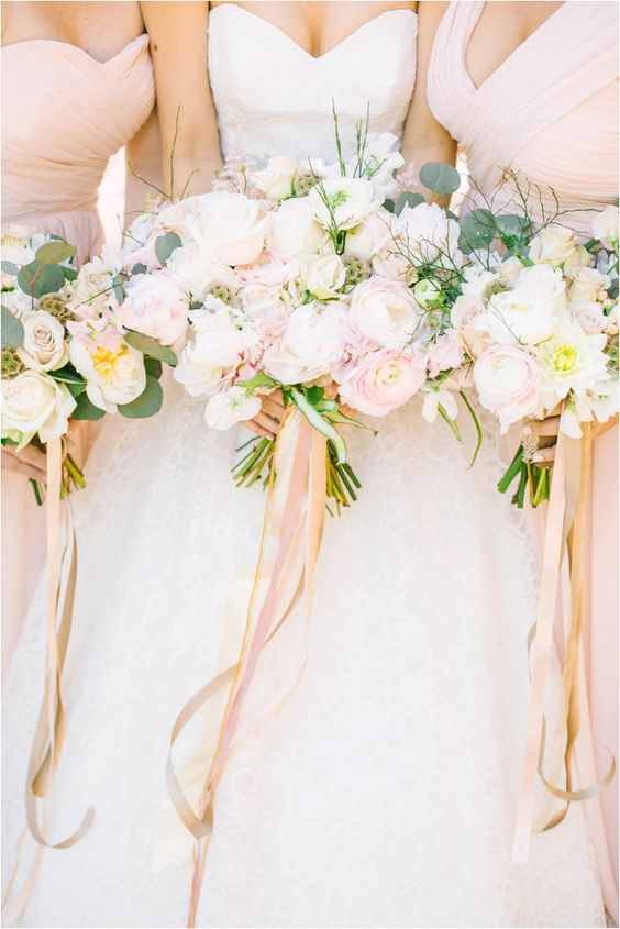 Rose Gold Wedding Inspiration, Rose Gold Bridal Bouquet, DC Wedding Planner Bright Occasions