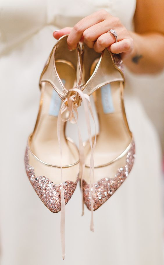 Rose Gold Wedding Inspiration, Rose Gold Bridal Shoes, DC Wedding Planner Bright Occasions