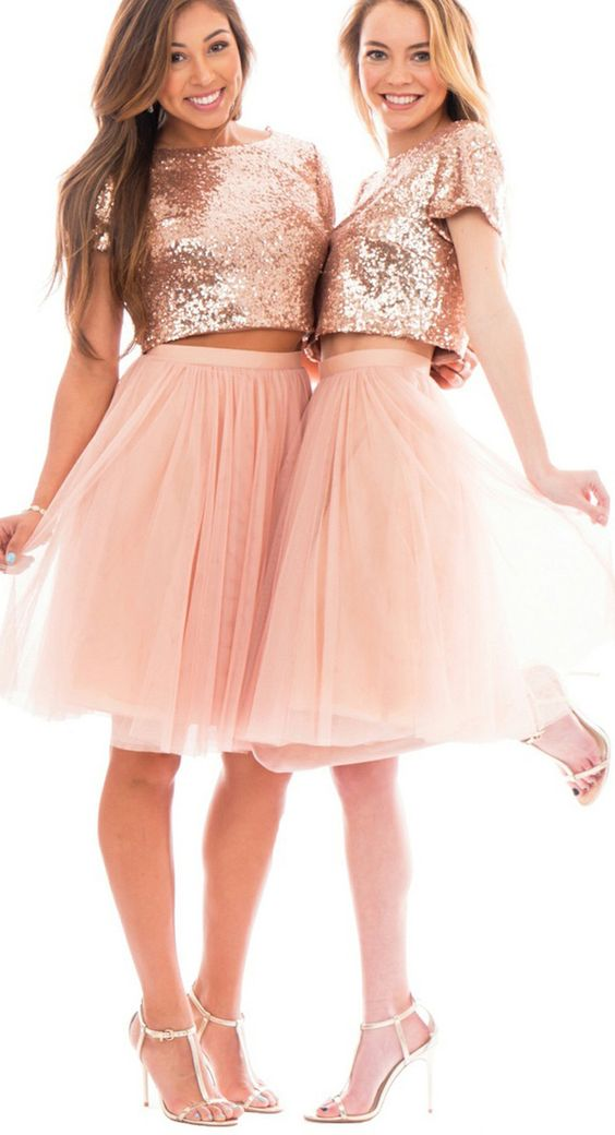Rose Gold Wedding Inspiration, Rose Gold Bridesmaid Dress, DC Wedding Planner Bright Occasions