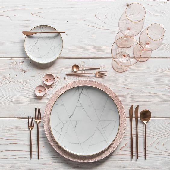 Rose Gold Wedding Inspiration, Rose Gold Flatware, DC Wedding Planner Bright Occasions