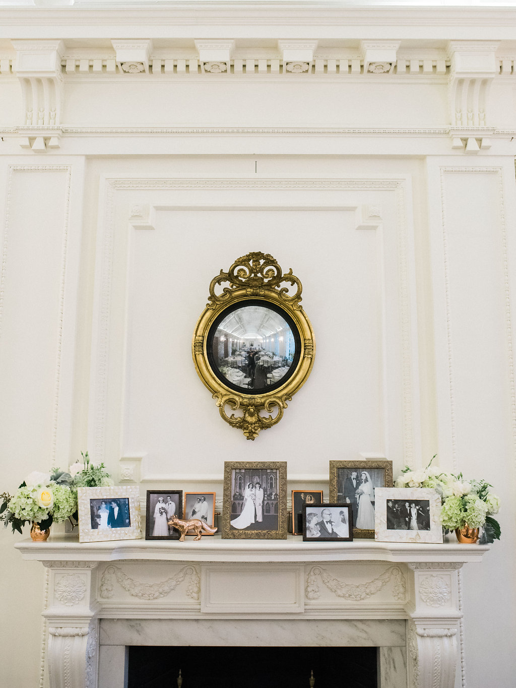 Copper and White DC Wedding Reception at DAR. DC Wedding Planner Bright Occasions. Photo by Lissa Ryan Photography
