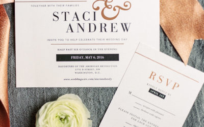 Copper and White DC Wedding at the Daughters of the American Revolution (DAR) – Real Wedding for S&A Part 1