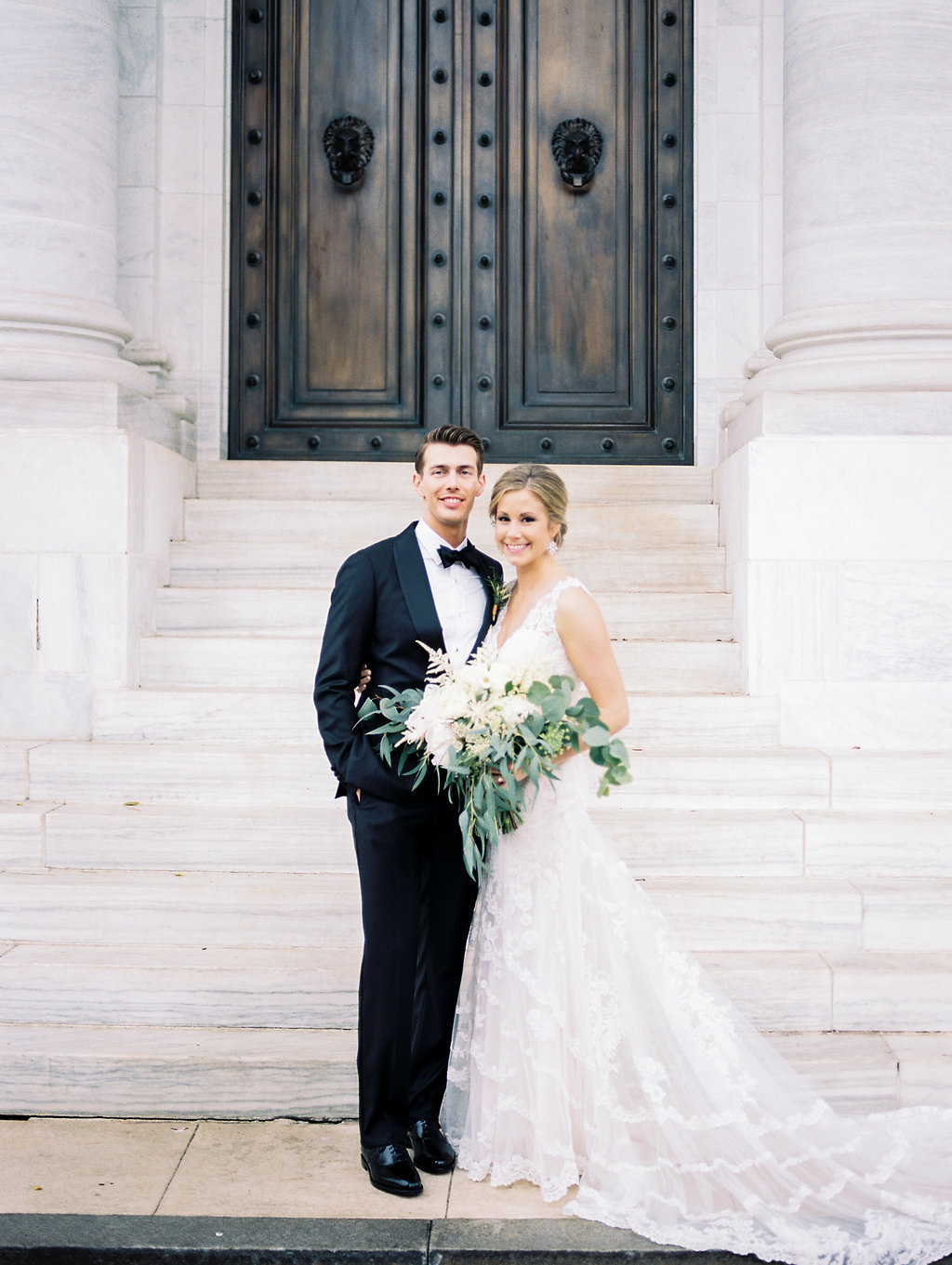 Copper and White DC Wedding at DAR. DC Wedding Planner Bright Occasions. Photo by Lissa Ryan Photography