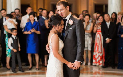 Elegant Summer DC Wedding Reception at Carnegie Institution for Science – Real Wedding for J&M Part 2