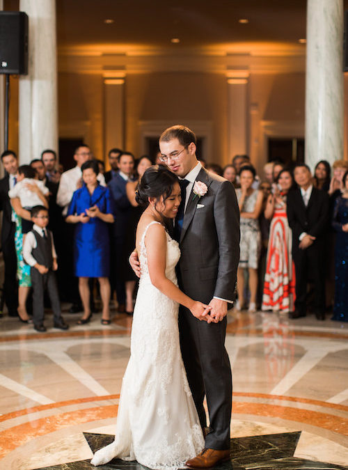 Elegant Summer DC Wedding Reception at Carnegie Institution for Science – Real Wedding for J&M Part 2