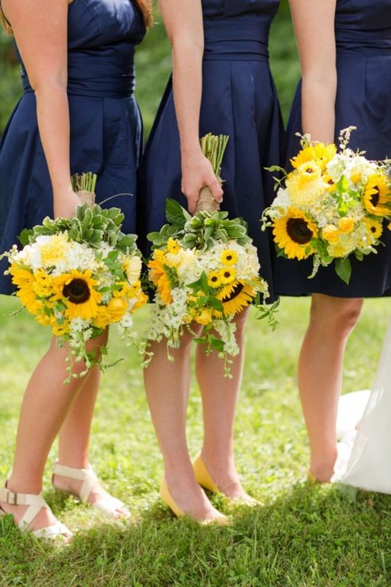Yellow Wedding Inspiration, Bridesmaid Bouquet, DC Wedding Planner Bright Occasions