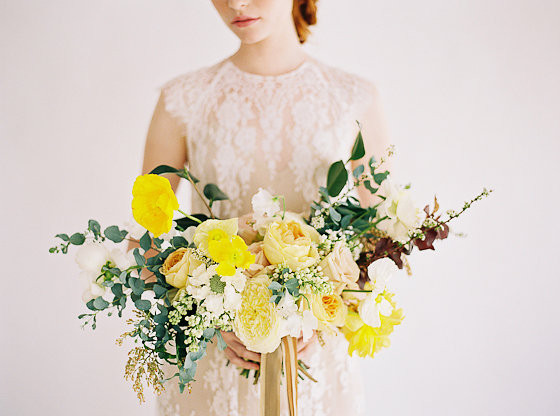 Yellow Wedding Inspiration, Bridal Bouquet, DC Wedding Planner Bright Occasions
