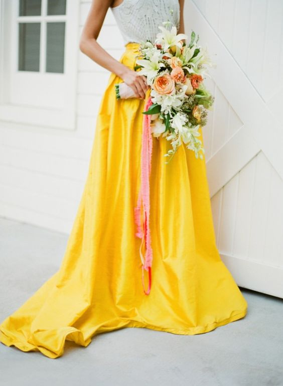 Yellow Wedding Inspiration, Wedding Gown, DC Wedding Planner Bright Occasions