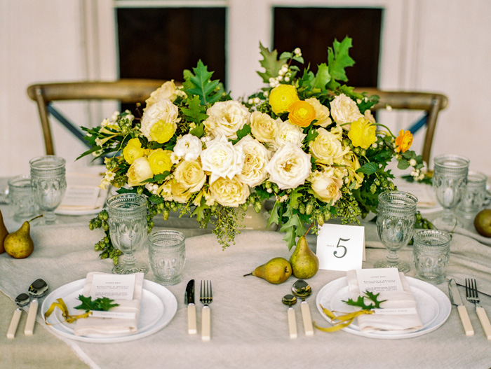 Yellow Wedding Inspiration, Yellow Centerpiece, DC Wedding Planner Bright Occasions