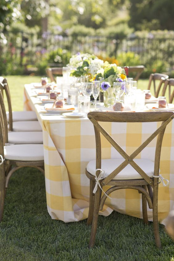 Yellow Wedding Inspiration, Yellow Rustic Linen, DC Wedding Planner Bright Occasions