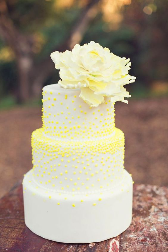 Yellow Wedding Inspiration, Modern Wedding Cake, DC Wedding Planner Bright Occasions