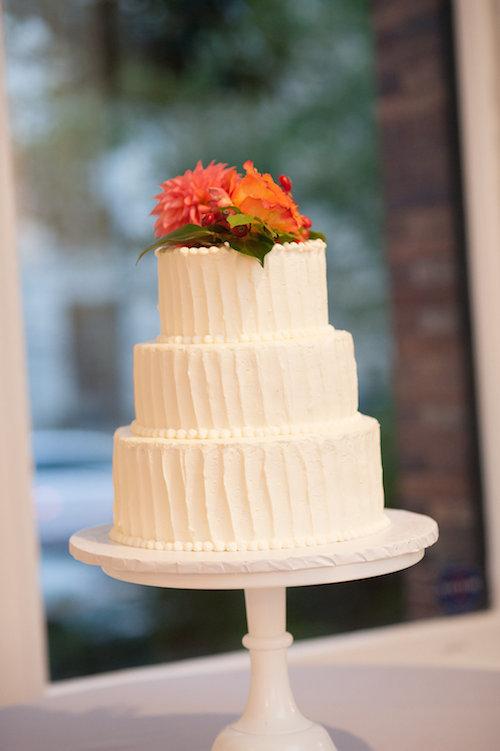 Orange Wedding Inspiration, Cake, Wedding Planner Bright Occasions-Emily Clack Photography