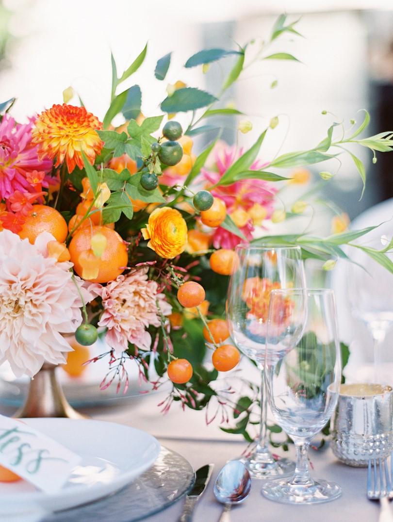 Orange Wedding Inspiration, Citrus Flowers, Wedding Planner Bright Occasions,