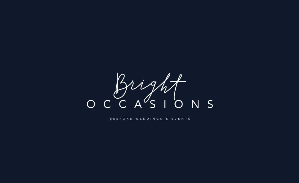 Bright Occasions rebrand, Davey & Krista branding design