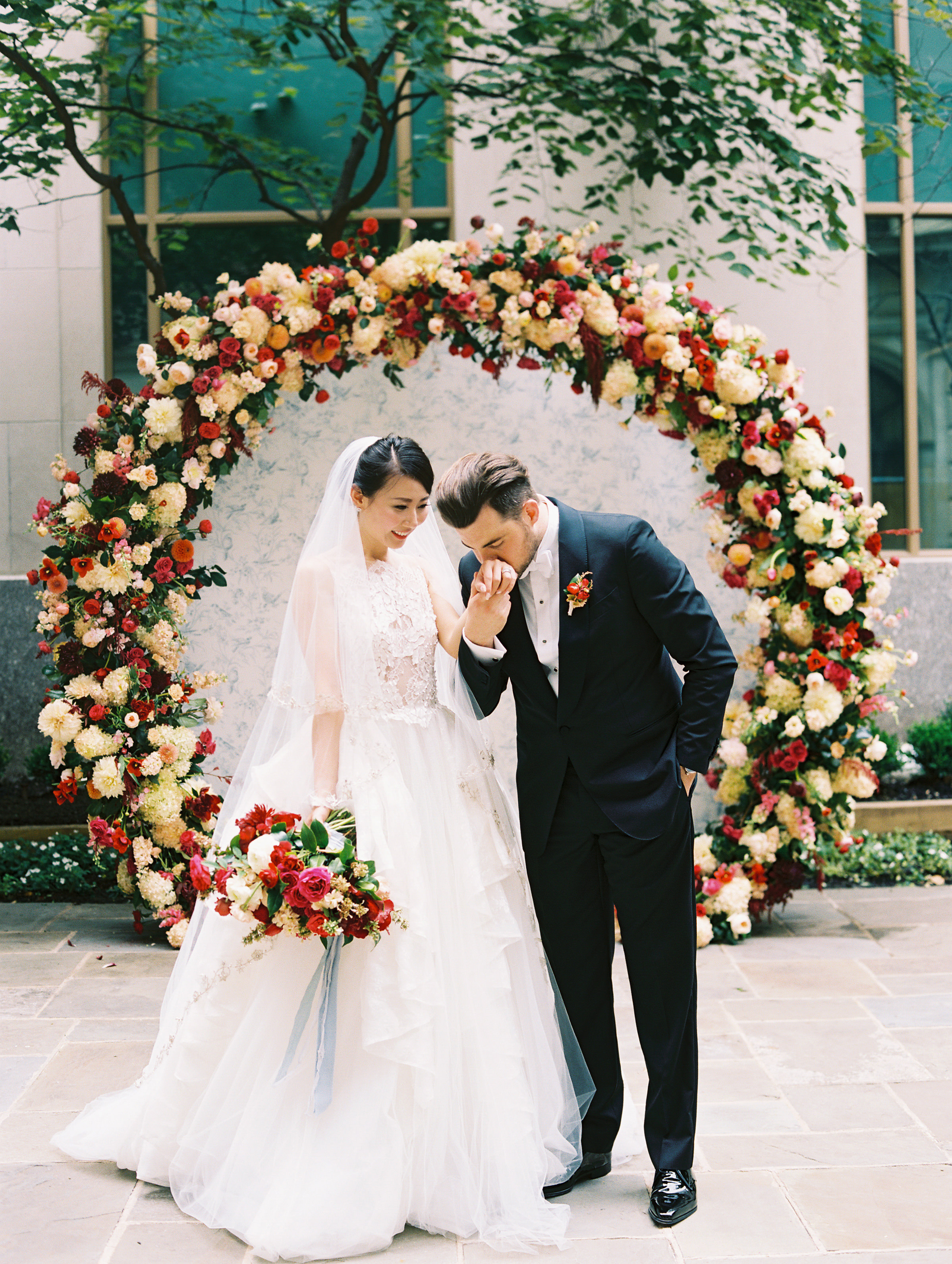 DC Wedding Planner BrightOccasion, Abby Jiu Photography, Multicultural Wedding with Pops of Red at the St. Regis Washington